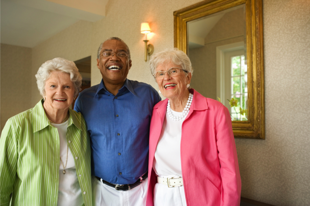 Socialization at Colonial Assisted Living community